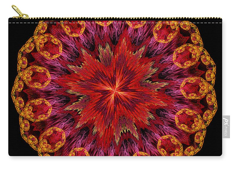 Mandala Carry-all Pouch featuring the digital art Mandala Of Love by Martin Capek