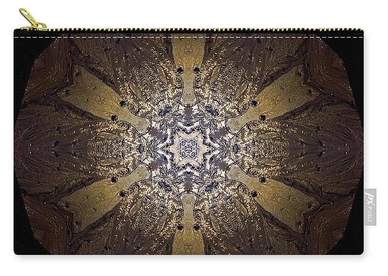 Mandala Carry-all Pouch featuring the photograph Mandala Sand Dollar At Wells by Nancy Griswold