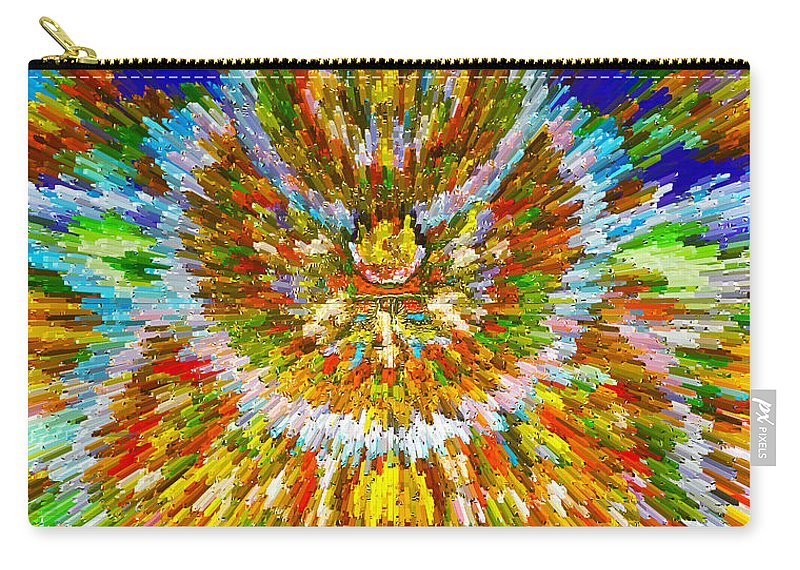 Mandalas Of The Buddha Carry-all Pouch featuring the painting Mandalas Of The Buddha by Jeelan Clark