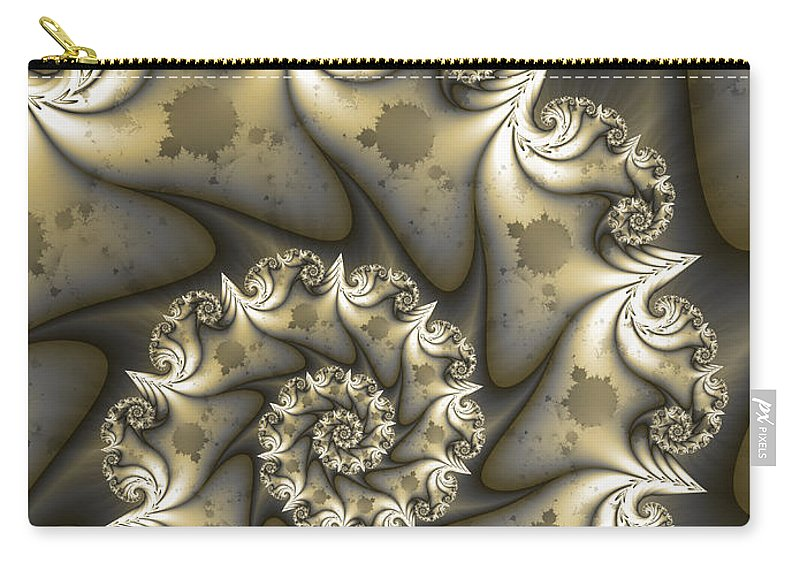 Digital Art Carry-all Pouch featuring the digital art Mandelbrot Set by Gabiw Art