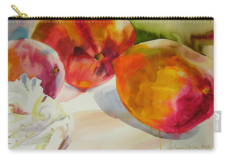 Art Carry-all Pouch featuring the painting Mangoes by Julianne Felton