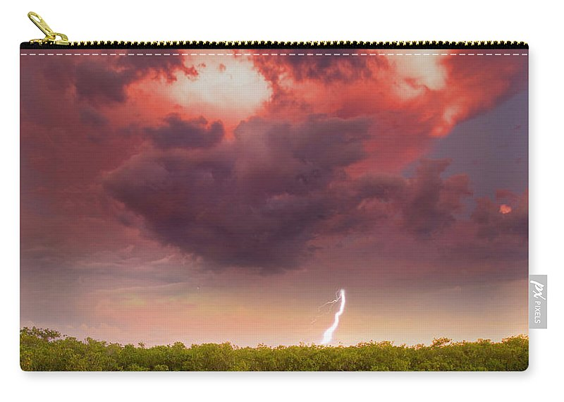 Storm Carry-all Pouch featuring the photograph Mangrove Storm by Mal Bray