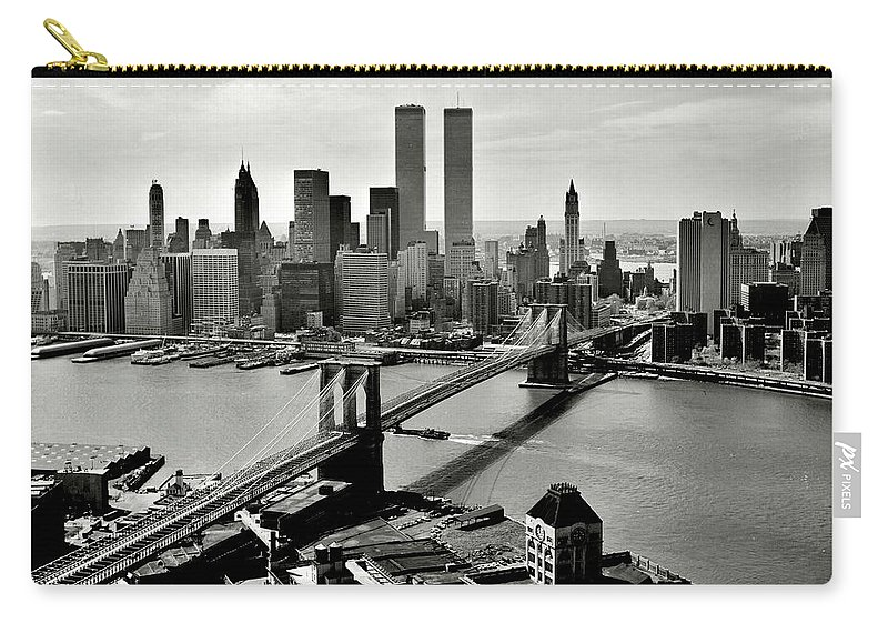 New York Carry-all Pouch featuring the photograph Manhattan 1978 by Benjamin Yeager