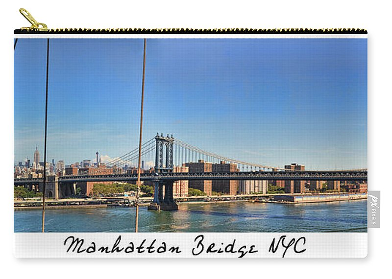 Wright Carry-all Pouch featuring the photograph Manhattan Bridge Nyc by Paulette B Wright