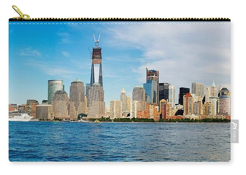 America Carry-all Pouch featuring the photograph Manhattan Skyline by Nick Zelinsky