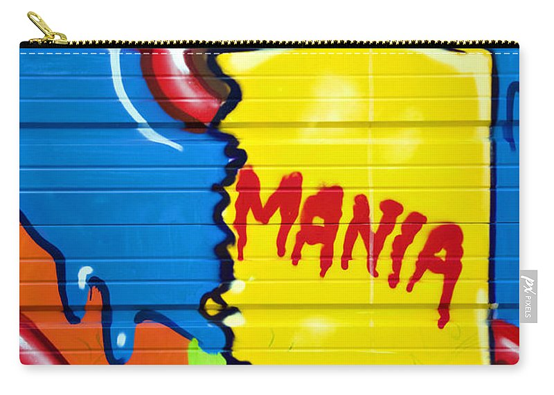 Graffiti Carry-all Pouch featuring the photograph Mania by Ricky Barnard