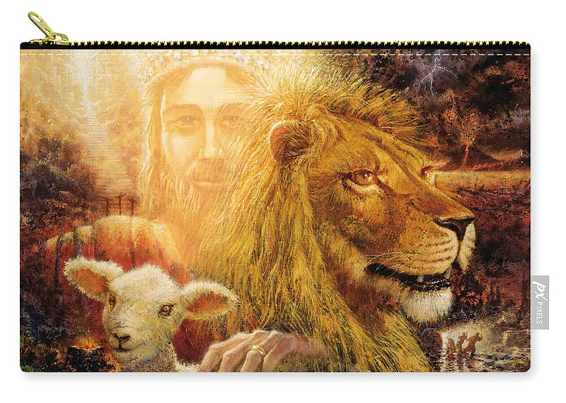 Biblical Carry-all Pouch featuring the painting Manifold Majesty by Graham Braddock