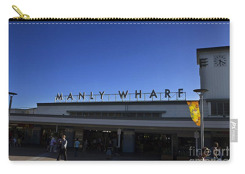 Travel Carry-all Pouch featuring the photograph Manly Wharf by Jason O Watson
