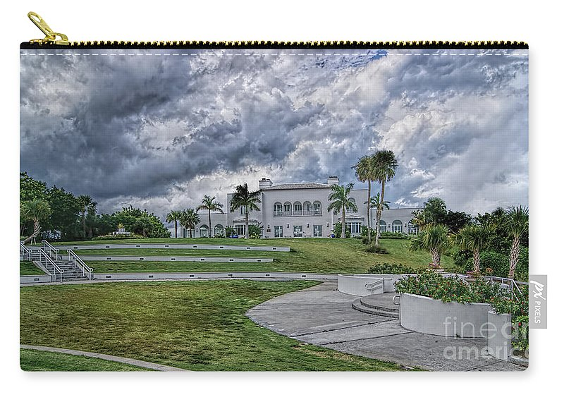 Mansion At Tuckahoe Carry-all Pouch featuring the photograph Mansion At Tuckahoe In Jensen Beach Florida by Olga Hamilton