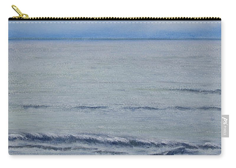 Seascape Carry-all Pouch featuring the pastel Manx Mist by Stanza Widen