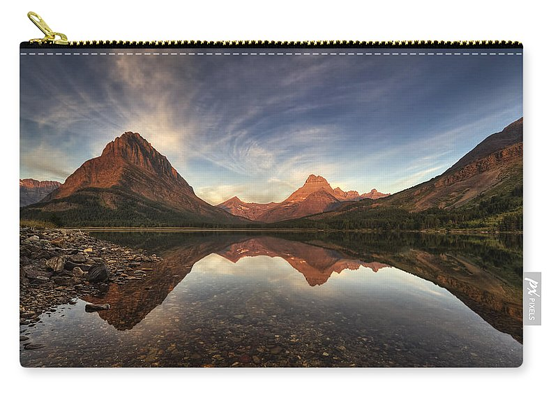 Sunrise Carry-all Pouch featuring the photograph Many Glacier Zen by Mark Kiver
