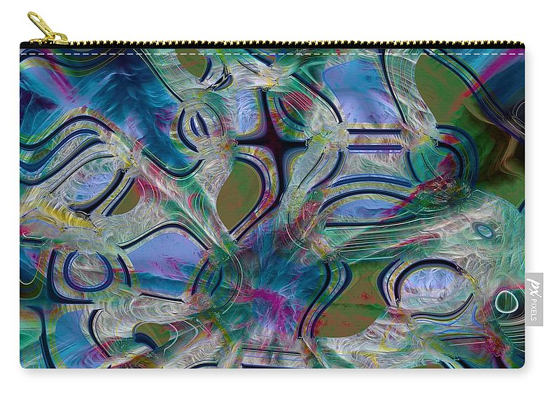 Abstract Carry-all Pouch featuring the photograph Map Of Symbols by Richard Thomas
