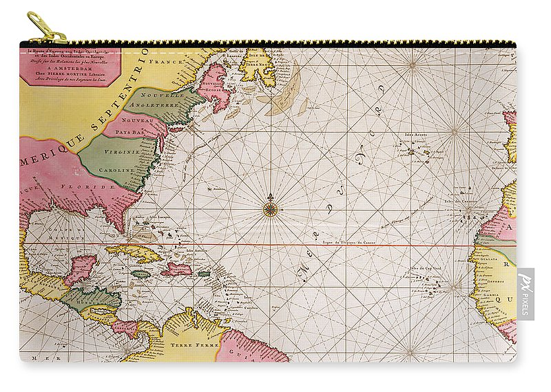 Map Of The Atlantic Ocean Showing The East Coast Of North America ...