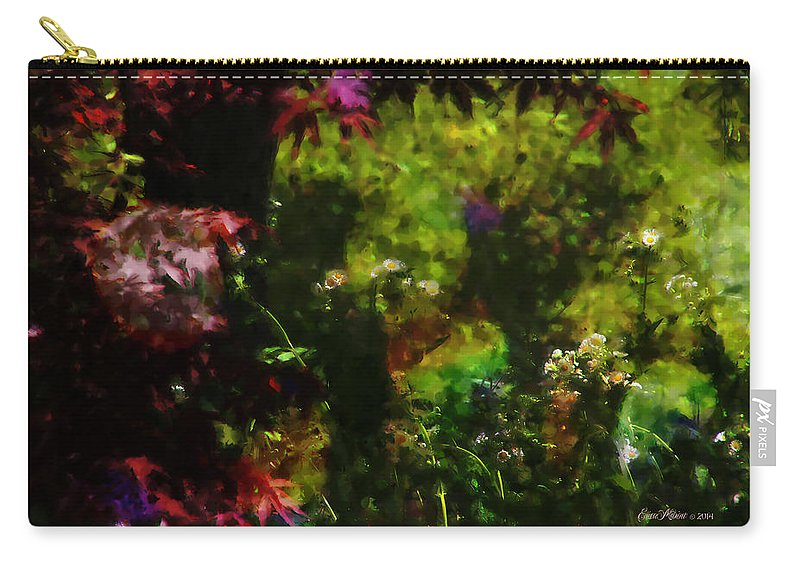 Japanese Maple Carry-all Pouch featuring the photograph Maple Leaves And Daisys by Ericamaxine Price