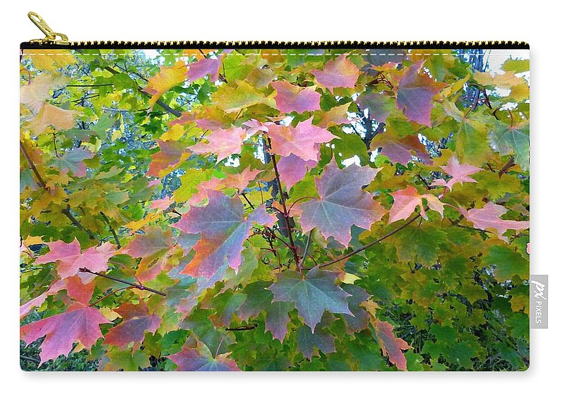 Maple Magnetism Painting Carry-all Pouch featuring the digital art Maple Magnetism Painting by Will Borden