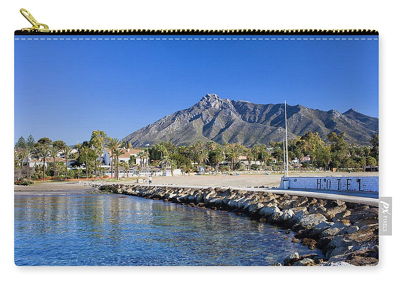 Pier Carry-all Pouch featuring the photograph Marbella Holiday Resort In Spain by Artur Bogacki