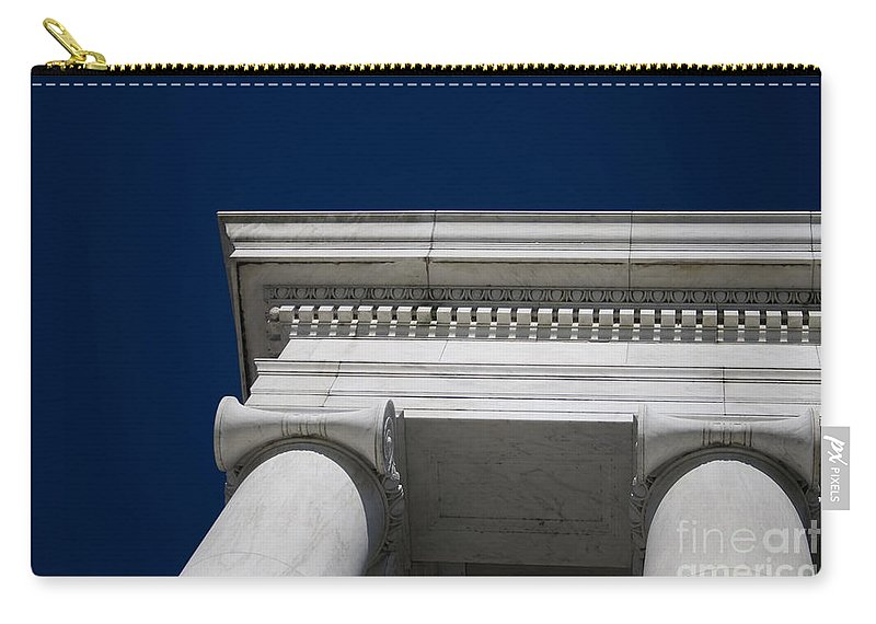 Marble Carry-all Pouch featuring the photograph Marble Architecture by B Christopher