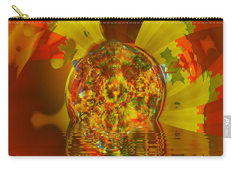 Fractal Art Carry-all Pouch featuring the digital art Marble Metamorph by Mario Carini
