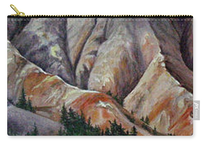 Mountains Carry-all Pouch featuring the painting Marble Ridge by Elaine Booth-Kallweit