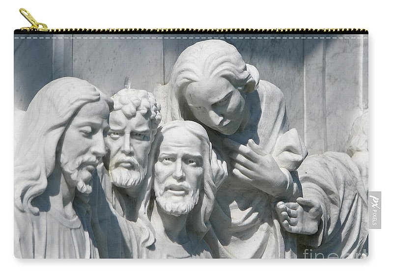 Art For The Wall...patzer Photography Carry-all Pouch featuring the photograph Marble Work by Greg Patzer
