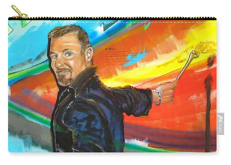 Marcello Cicchini Carry-all Pouch featuring the painting Marcello Cicchini Mural by Marcello Cicchini