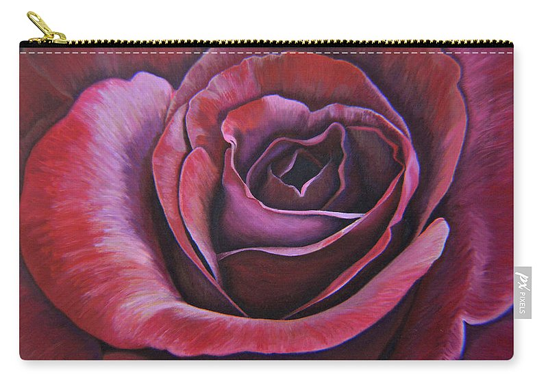 Rose Carry-all Pouch featuring the painting March Rose by Thu Nguyen