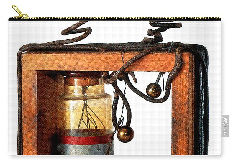 Science Carry-all Pouch featuring the photograph Marconis First Transmitter 1897 by Nypl