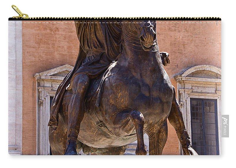 Marcus Aurelius Carry-all Pouch featuring the photograph Marcus Aurelius by David Pringle