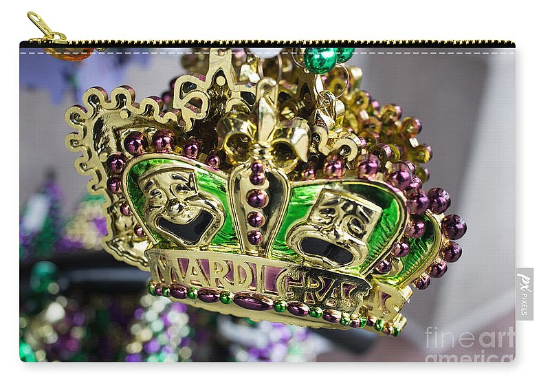 Celebration Carry-all Pouch featuring the photograph Mardi Gras Beads by Edward Fielding