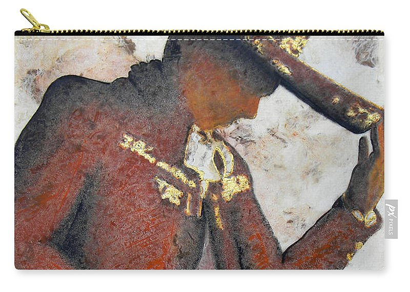 Charros Carry-all Pouch featuring the painting M A R I A C H I . II by J - O  N  E