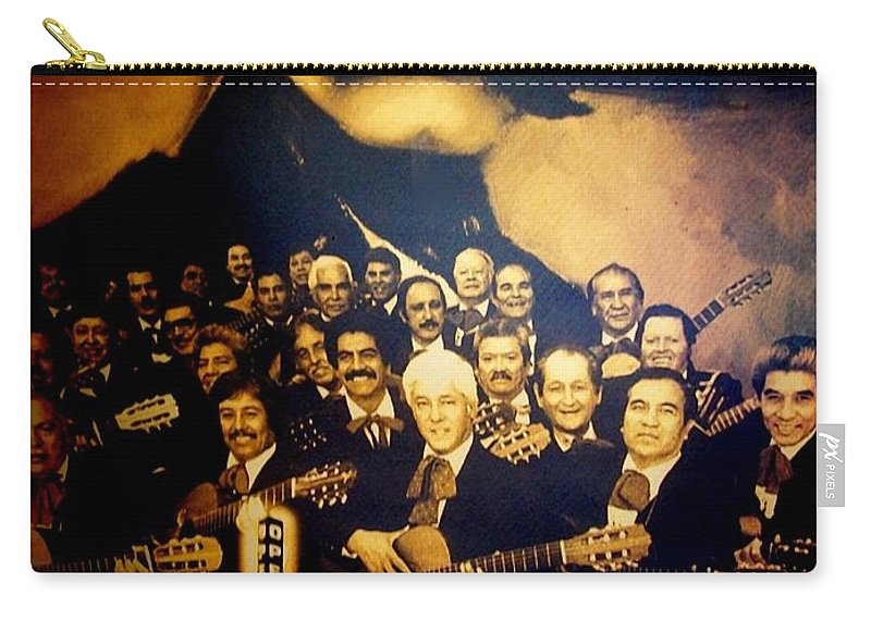 Carry-all Pouch featuring the photograph Mariachi by Laurette Escobar