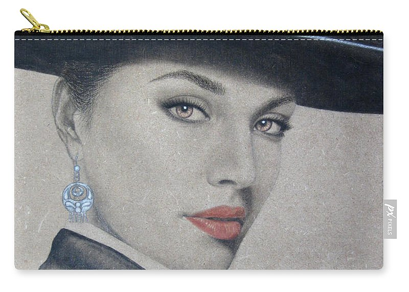 Mariachi Carry-all Pouch featuring the painting Mariachi by Lynet McDonald