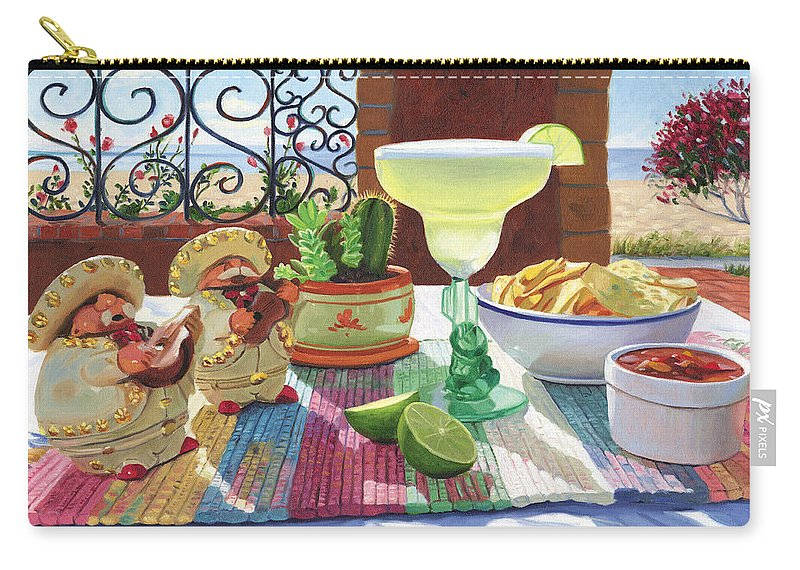Cocktail Carry-all Pouch featuring the painting Mariachi Margarita by Steve Simon