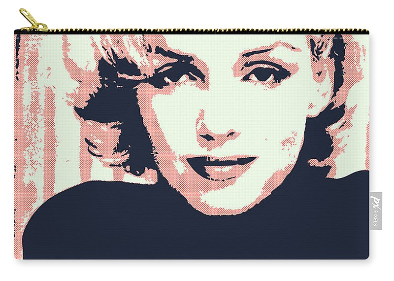 Claudia Carry-all Pouch featuring the digital art Marilyn M by Chungkong Art