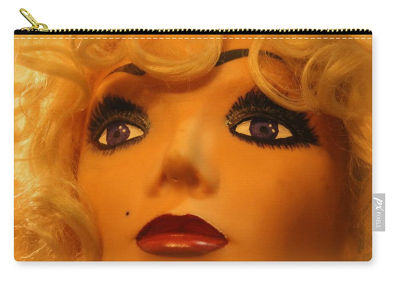 Marilyn Carry-all Pouch featuring the photograph Marilyn Mannequin by Lynn Sprowl