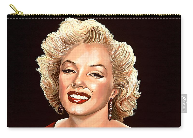 Marilyn Monroe Carry-all Pouch featuring the painting Marilyn Monroe 3 by Paul Meijering