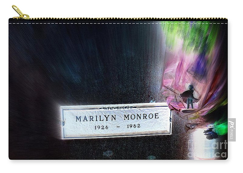 Marilyn Monroe Carry-all Pouch featuring the photograph Marilyn Monroe by Ed Weidman