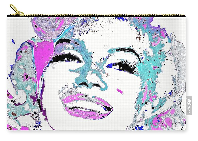 Marilyn Monroe Carry-all Pouch featuring the painting Marilyn Monroe I Want To Be Loved By You by Saundra Myles