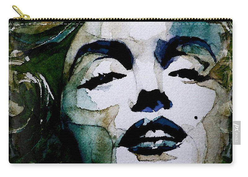 Marilyn Monroe . Legend Carry-all Pouch featuring the painting Marilyn No10 by Paul Lovering