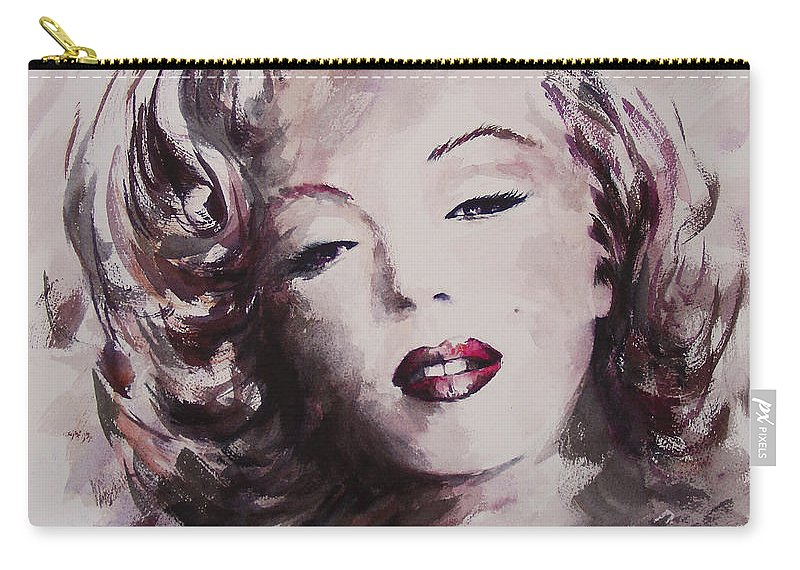 Marilyn Monroe Carry-all Pouch featuring the painting Marilyn by William Russell Nowicki