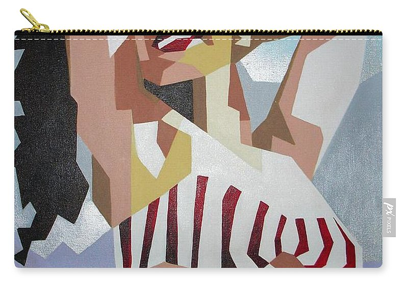 Actress Carry-all Pouch featuring the painting Marilyn by Taiche Acrylic Art