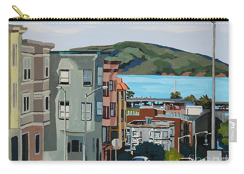 San Francisco Carry-all Pouch featuring the painting Marin by Melinda Patrick
