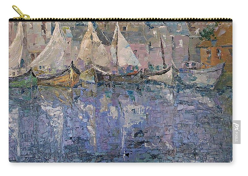Marina Carry-all Pouch featuring the painting Marina by AmaS Art