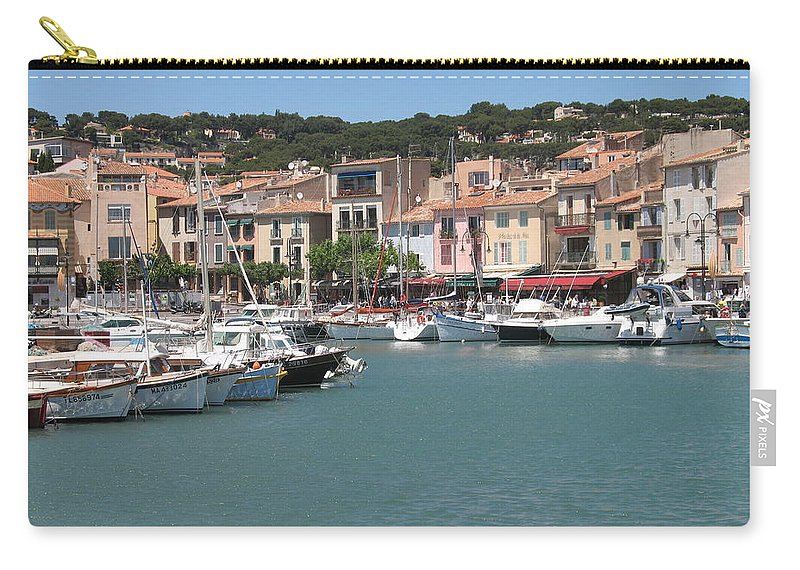 Harbor Carry-all Pouch featuring the photograph Marina Cassis by Christiane Schulze Art And Photography