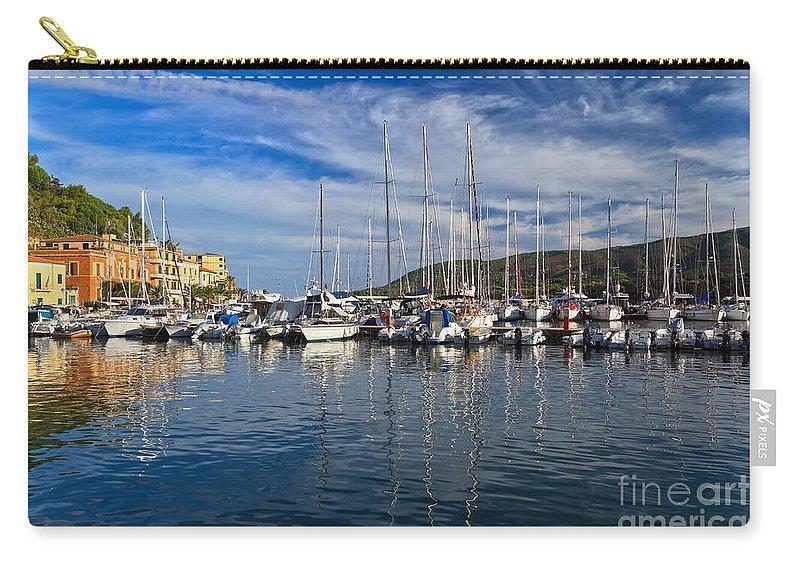 Italy Carry-all Pouch featuring the photograph marina in Porto Azzurro by Antonio Scarpi