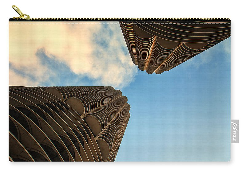 Marina Towers Carry-all Pouch featuring the photograph Marina Towers by Lauri Novak