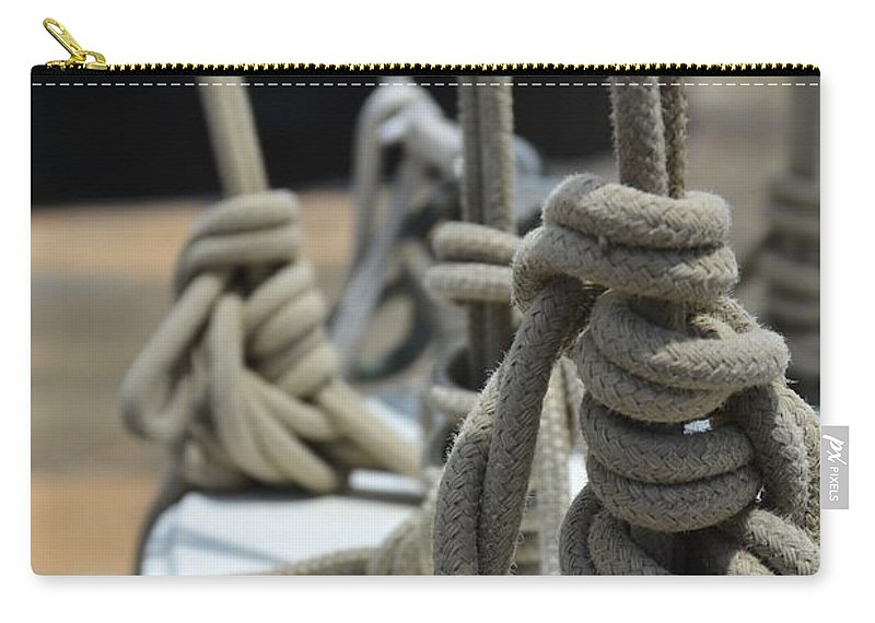 Mariners Knots Carry-all Pouch featuring the photograph Mariners Knots by Stephanie Guinn