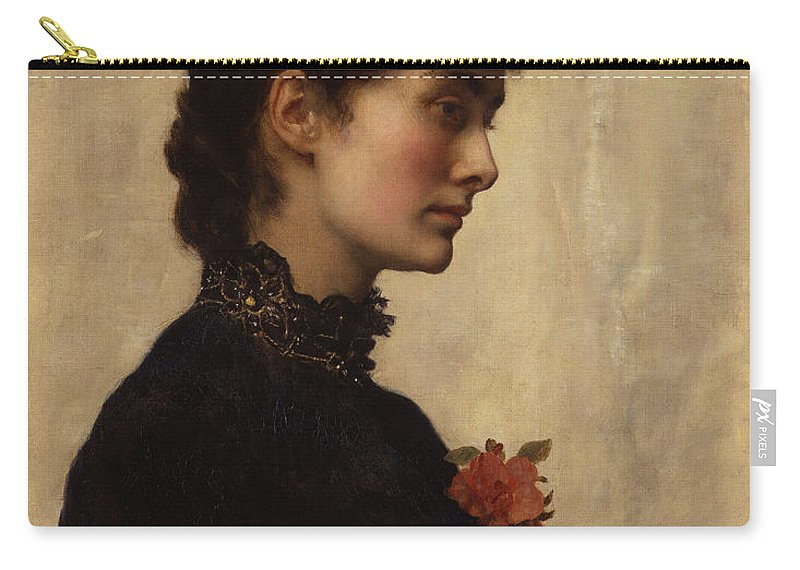 John Carry-all Pouch featuring the painting Marion Collier by Philip Ralley