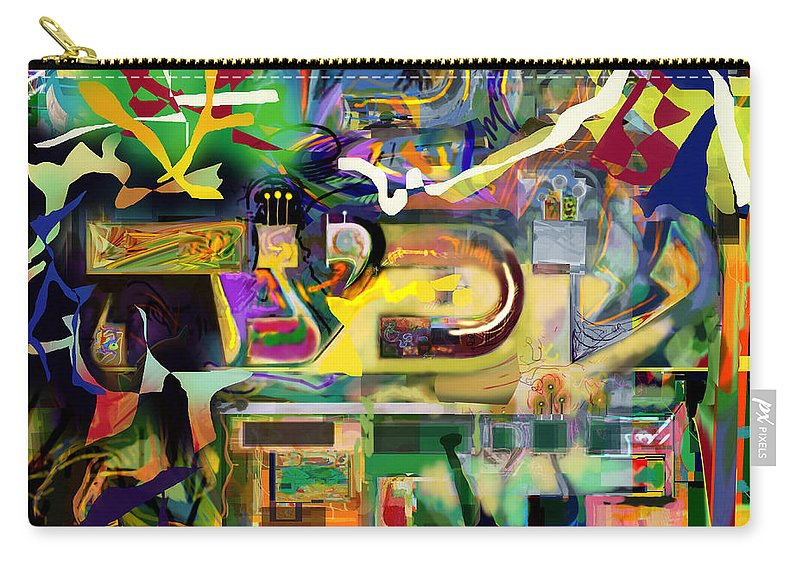 Torah Carry-all Pouch featuring the digital art Marital Harmony 59 by David Baruch Wolk