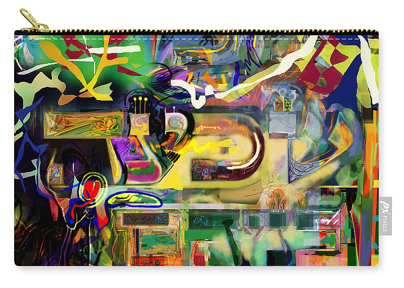 Torah Carry-all Pouch featuring the digital art Marital Harmony 61 by David Baruch Wolk